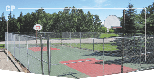 Outdoor basketball court done by Calgary Paving, asphalt resurfacing, asphalt resurfacing cost, asphalt resurfacing products
